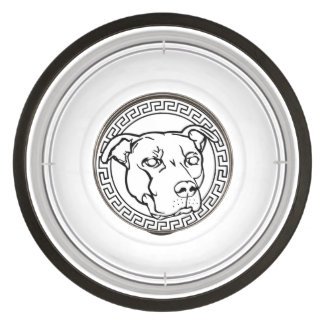 Staffordshire Logo Pit Bull Graphic Dog Food Bowl