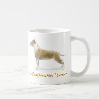 ¡Staffordshire Terrier americano, amante del perro Tazas De Café