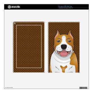 Staffordshire Terrier americano (Amstaff) Kindle Fire Pegatina Skin