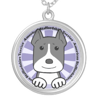 Staffordshire Terrier americano Colgante Redondo