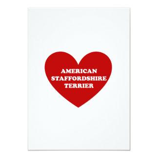 """Staffordshire Terrier americano Invitación 5"""" X 7"""""""