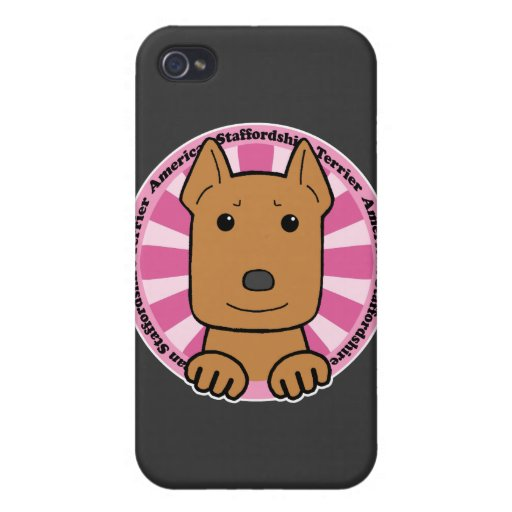 Staffordshire Terrier americano iPhone 4 Funda