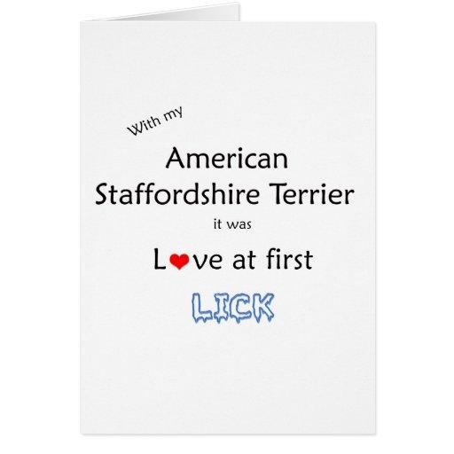 Staffordshire Terrier americano lame diseño Tarjeta De Felicitación