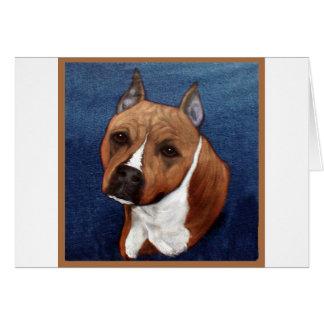 Staffordshire Terrier americano Tarjeta De Felicitación