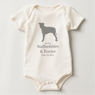 5143e2e2f Staffordshire & Terrier Baby Body Suit - Customize Baby Bodysuit