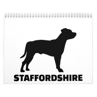 Staffordshire Terrier Calendar
