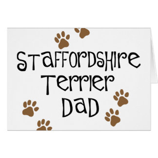 Staffordshire Terrier Dad Card