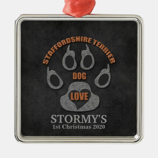 Staffordshire Terrier Dog Breed Christmas Ornament