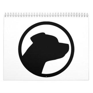 Staffordshire Terrier head Calendar
