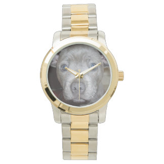Staffordshire_Terrier_Large_Unisex_Two_Tone_Watch, Wristwatches