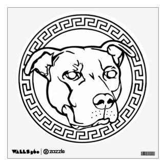 Staffordshire & Terrier Logo Wall Decal