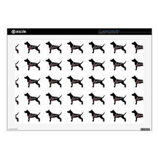 "Staffordshire Terrier Love 17"" Laptop Skins"