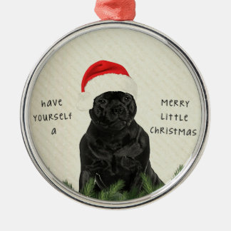 Staffordshire Terrier Merry Little Christmas Metal Ornament