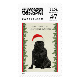 Staffordshire Terrier Merry Little Christmas Postage