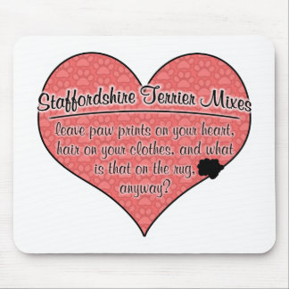 Staffordshire Terrier Mixes Paw Prints Dog Humor Mouse Pad