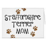 Staffordshire Terrier Mom Greeting Card