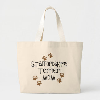 Staffordshire Terrier Mom Large Tote Bag