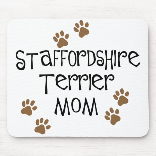 Staffordshire Terrier Mom Mouse Pad