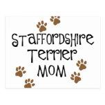 Staffordshire Terrier Mom Postcard