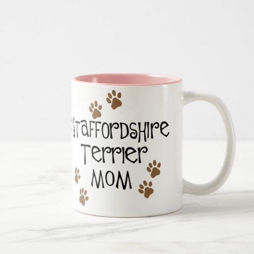 Staffordshire Terrier Mom Two-Tone Coffee Mug