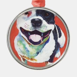 Staffordshire Terrier Christmas Tree Ornament