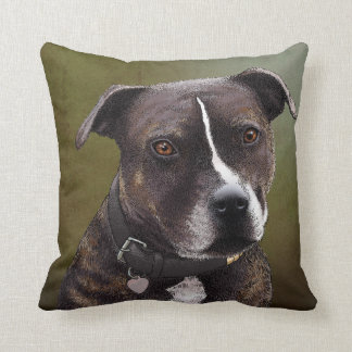 Staffordshire terrier pillow