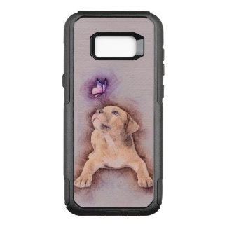 Staffordshire terrier Puppy with Butterfly OtterBox Commuter Samsung Galaxy S8  Case