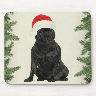 Staffordshire Terrier Vintage Style Christmas Mouse Pad