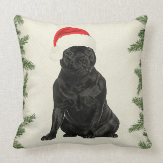 Staffordshire Terrier Vintage Style Christmas Throw Pillow