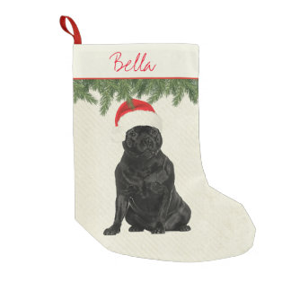 Staffordshire Terrier Vintage Style Small Christmas Stocking
