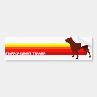 Staffordshire Terrier With Stripes Bumper Sticker