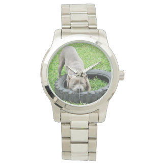 Staffordshire_Tyre_Play_Unisex_Large_Silver_Watch Watches