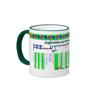 Staffordshire & Worcester Canal Map Green 2of2 Ringer Mug