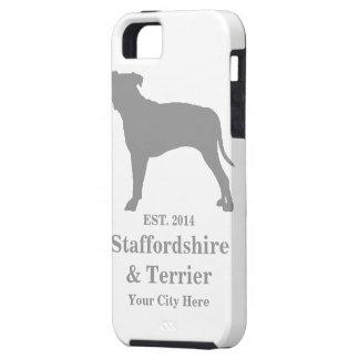 Staffordshire y caja del teléfono de Terrier - iPhone 5 Case-Mate Protector