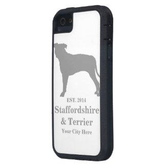Staffordshire y caja del teléfono de Terrier - iPhone 5 Case-Mate Cárcasas