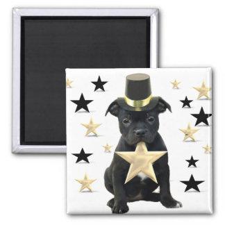 Stafforfshire bull terrier puppy fridge magnet