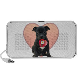 Stafforshire bull terrier puppy PC speakers