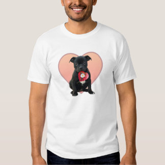 Stafforshire bull terrier puppy t-shirt