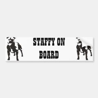 Staffy on Board Bumper Sticker