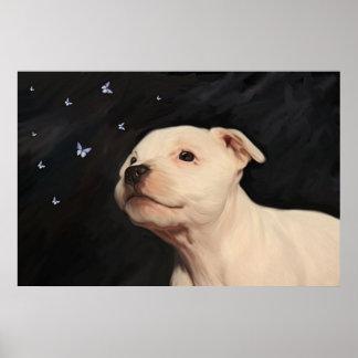 Staffy Puppy Poster