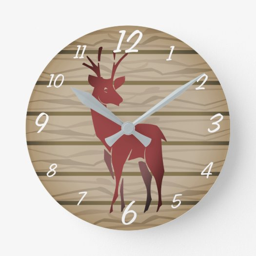 Stag Acrylic Wall Clock