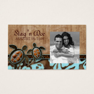 Stag and Doe Tickets Beach Turtles Brown Blue