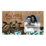 Stag and Doe Tickets Beach Turtles Brown Blue Business Cards