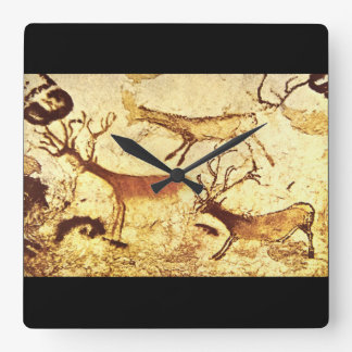 Stag and Reindeer', Lascaux_Art of Antiquity Square Wall Clock