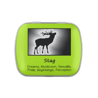 Stag Animal Spirit Meaning Collectible Candy Tin