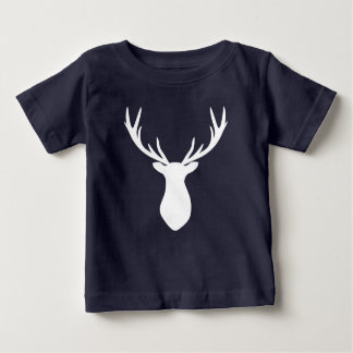 Stag Antler Deer American Apparel Cotton Baby T-Shirt