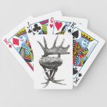 Stag antlers chair bicycle poker deck