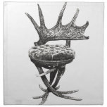 Stag antlers chair cloth napkins