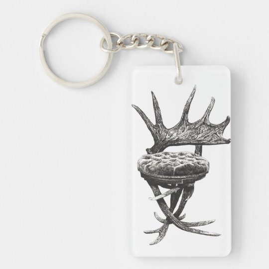 Stag antlers chair keychain