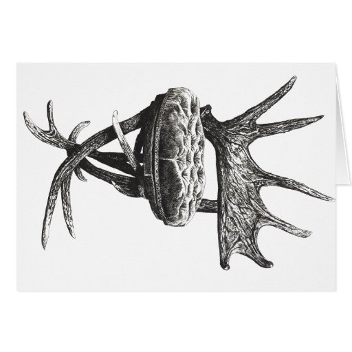 Stag antlers chair stationery note card